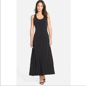 Ivanka Trump Black Maxi Dress Jersey Knit L
